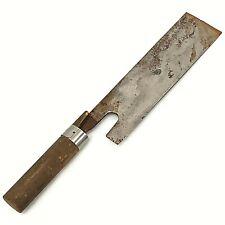"""Vintage Japanese Noodle Cutting Knife """"EDO"""" HandMade 390mm (TN)"""