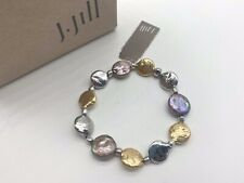 J. Jill - NEW Peacock Pearl Stretch Bracelet - NWT