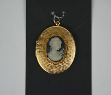 Antique / Vintage Victorian Gold Cameo Locket Pendant For a Necklace