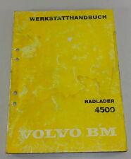 Manual de Taller Volvo Bm Pala de Ruedas 4500 Stand 04/1980