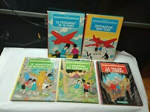 5 VTG Comic Book French BD AVENTURES de JO ZETTE & JOCKO HERGÉ CASTERMAN TINTIN