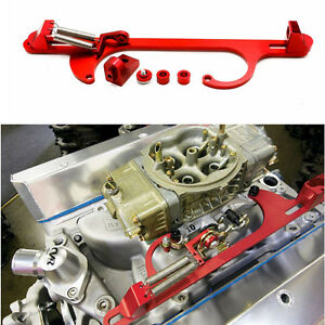 4150 4160 Series Red Billet Aluminum Throttle Cable Carb Bracket Carburetor 350