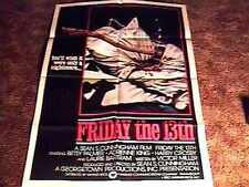 FRIDAY 13TH #1 INT STYLE MOVIE POSTER 1980 HORROR JASON