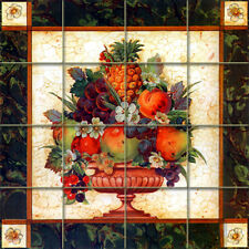 Tiles Art Decor Flower Fruits Ceramic Mural Backsplash Bath Tile #1215