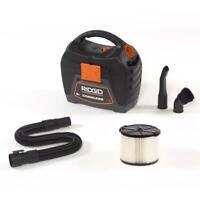 RIDGID Handheld Wet/Dry Shop Vacuum 3 Gal. 18-Volts Cordless Expandable Hose