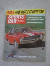 1968 SPORTS CAR GRAPHIC mag JAVELIN SST-343.PORSCHE 911.AMX.F1 SOUTH AFRICAN GP.