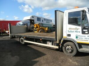 IVECO 75E17 2003 FLATBED 20' MANUAL GEARBOX ON STEEL TIDY DRIVES WELL NO MOT