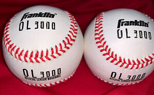 2 Franklin 1570 3000 Leather  Cover Baseball  Balls , ( Price For 2 Ball)