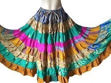 Silk Hippy, Boho Casual Plus Size Skirts for Women