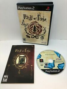 Rule of Rose (Sony PlayStation 2, 2006) NTSC with Manual/Registration card!
