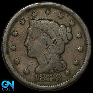 1848 Braided Hair Large Cent --  MAKE US AN OFFER!  #K8551