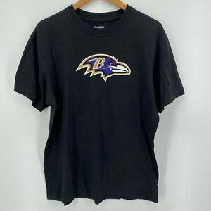 Reebok T-Shirt Men's Size L Black Baltimore Ravens #27 Ray Rice Large