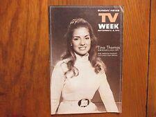 Sept. 2, 1973 Lancaster Pa TV Week(TINA  THOMAS/SHARON  ACKER/TERRY ANN MEEUWSEN
