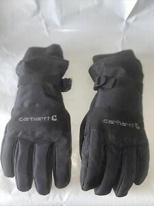 CARHARTT WATERPROOF COLD WEATHER INSULATED GLOVES A511 BLACK Large Pre-owned