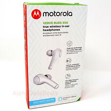 Motorola Verve Buds 500 True Wireless Bluetooth In-Ear Earbuds Headphones White