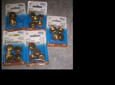 National Hardware N115-840 V142 3/4 Inch Cup Pull Brass Finish 5 Cards New