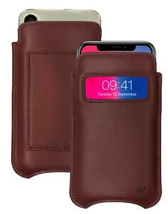 iPhone 11 Pro Case   iPhone Xs Case BROWN Leather NueVue SANITIZING Wallet