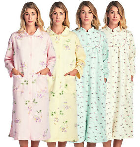 Casual Nights Women's Long Quilted Robe House Dress