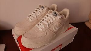 Size 10 - Nike Air Force 1 Low x Stussy Fossil - CZ9084-200