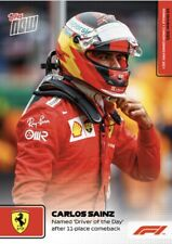 2021 TOPPS NOW FORMULA ONE F1 CARD CARLOS SAINZ #63 NAMED DRIVER OF THE DAY