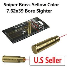 Sniper 7.62 x 39 mm Red Laser Bore Sighter Boresighter Brass Yellow US Seller