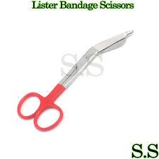 1 Lister Bandage Nurse Scissors - Color Handles(Red)