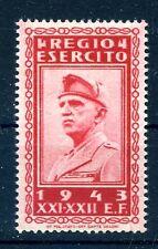 REGNO 1943 - Franchigia REGIO ESERCITO Nuovo **