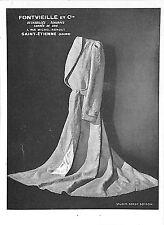 SAINT- ETIENNE PUBLICITE ADVERTISING FONTVIEILLE ECHARPES CARRES DE SOIE 1944