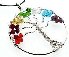Baum des Lebens Chakra Glas Kristall Anhänger handgefertigt