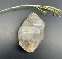 125 g Herkimer Diamond Scepter, Golden Healer Mushroom w/ Smoky Phantoms