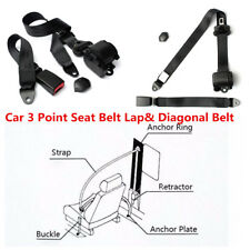 Adjustable Automatic Retractable 3 Point Car Safety Seat Belt Lap& Diagonal Belt