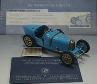 FRANKLIN MINT 1924 BUGATTI TYPE 35 RACE CAR DIECAST 1:24 SCALE NM CONDITION #2