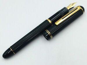 Y5994  PILOT Justus Fountain Pen Black 14K Gold 585    M