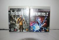 inFamous 1 & 2 PlayStation 3 (PS3) - 2 Game Lot Complete Black Label CIB TESTED