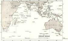 INDIAN OCEAN. Index to the Charts of the Indian Ocean 1881 old antique map