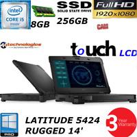 Dell Latitude 14 Rugged 5424 ATG i5-6300U 1080P TOUCH 256GB SSD HD 8GB 3YR WTY