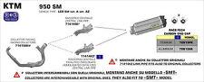 SILENCIEUX ARROW TITANE KTM 950 SM 2006/09 - 71414KZ+72613PK