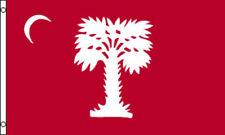 BIG RED CITADEL FLAG - SOUTH CAROLINA - CIVIL WAR PALMETTO - FT SUMTER - CHARLES