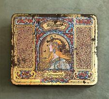 Antique Whitman's Salmagundi Art Nouveau Candy Tin Alphonse Mucha Design