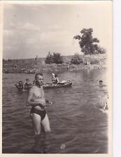 1960s Handsome nude muscle man bulge on beach gay interest Russian Soviet photo