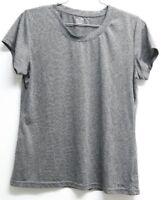 Women's CHAMPION Loose Fit T Shirt Short Sleeve Grey Medium