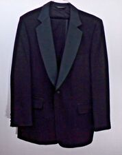 Neiman-Marcus Black Wool Tuxedo Jacket & Pants One Button 44L Vintage Prom