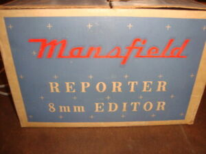Mansfield Reporter 8mm Editor Model 650 With Box