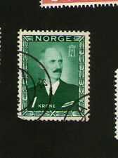POSTAGE STAMP : NORWAY - NORGE - 1 Krone - green