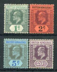 BRITISH HONDURAS 1902-04 KEVII SET SG80/3 MINT