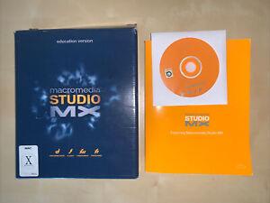2002 Macromedia Studio MX Software Educational Version WIN & MAC