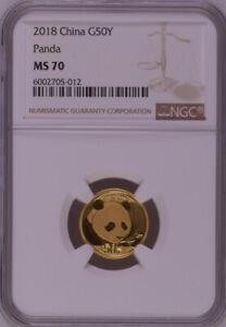 NGC MS70 2018 China Panda 3g Gold Coin