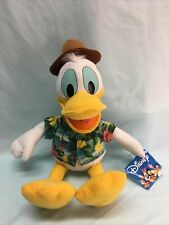 "Disney Donald Duck Plush w/ Hawaiian Shirt Approx 14"" (15)"