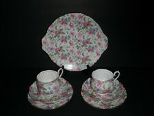 "Royal Albert ""Summer Glory"" Chintz Dessert Set for two - 7 Pieces"