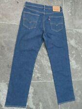 LEVI'S 751 DARK BLUE STRETCH JEANS W 34 L 32 VERY GOOD CONDITION!!!!!!!!!!!!!!